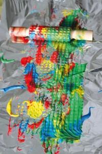 Actividad creativa con pintura