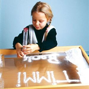 Aprender a escribir en la arena