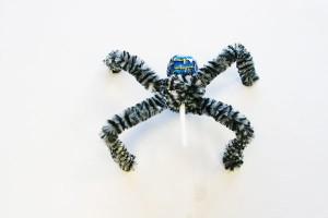 Araña chupachups para Halloween