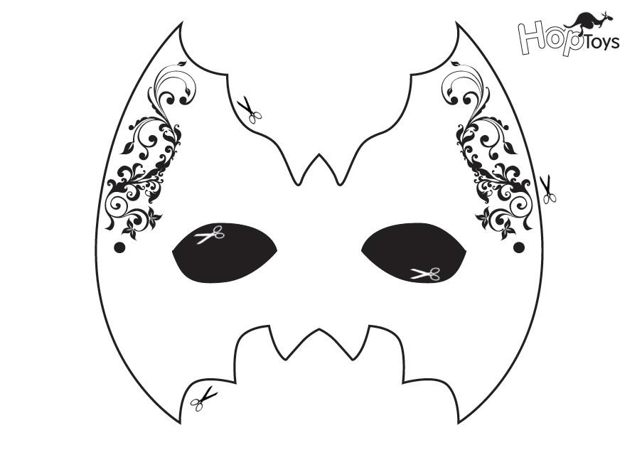 máscara niña
