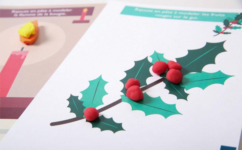 Manualidades navideñas con plastilina - Hop\'Toys