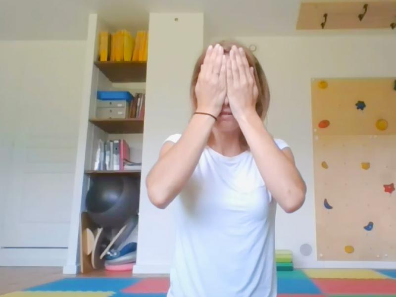 descanso sensoriomotor: despertar de los ojos
