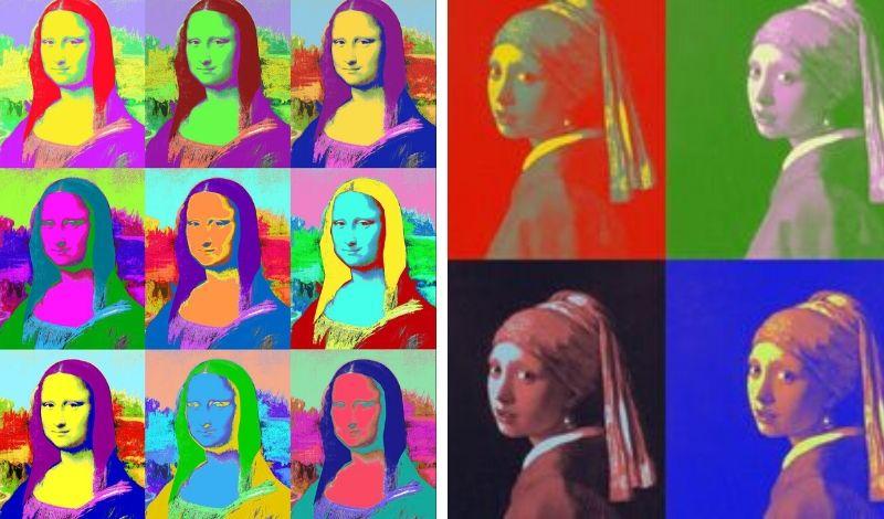 Pintura estilo Andy Warhol